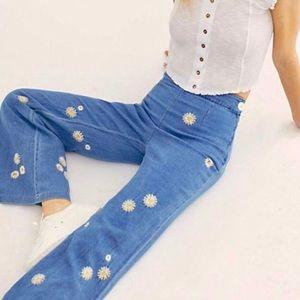 Free People Boho Daisy Wide Leg Jean Pants